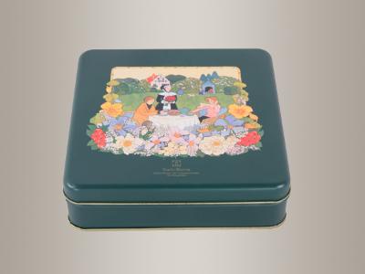马口铁饼干盒,饼干包装铁盒175*175*56mm